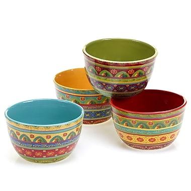 Certified International Tunisian Sunset 4 Piece Ice Cream Bowl Set