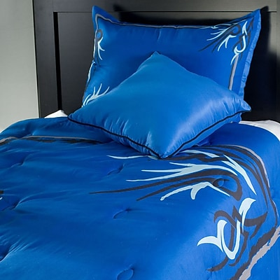 Rizzy home kids tattoo comforter set full queen for Tattoo bedding queen