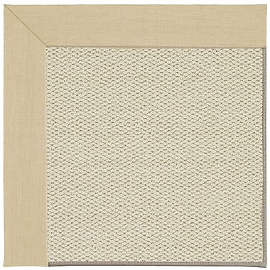 Capel Inspirit Linen Machine Tufted Ivory/Beige Area Rug; Square 6'