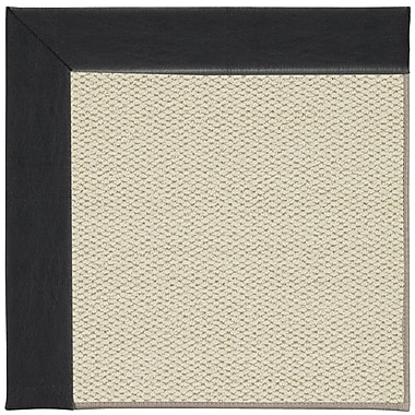 Capel Inspirit Linen Machine Tufted Onyx/Beige Area Rug; Rectangle 8' x 10'