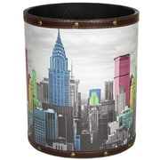 Oriental Furniture Highlights of New York 2.9 Gallon Fabric Trash Can