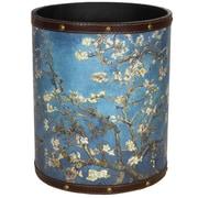 Oriental Furniture Van Gogh Autumn Blossom 2.9 Gallon Waste Basket