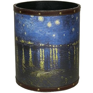 Oriental Furniture Van Gogh Over the Rhone 2.9 Gallon Fabric Trash Can