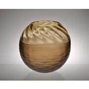 Viz Glass Encalmo Art Glass Serving Bowl; Amber