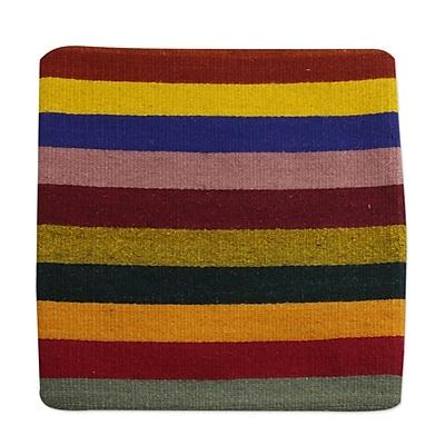 Novica Bright Horizons Modern Zapotec Cotton Pillow Cover