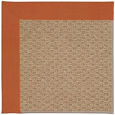 Capel Zoe Machine Tufted Russett/Brown Indoor/Outdoor Area Rug; Rectangle 5' x 8'
