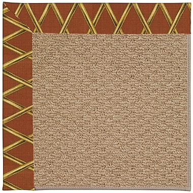 Capel Zoe Machine Tufted Cinnabar Honey/Brown Indoor/Outdoor Area Rug; Rectangle 4' x 6'
