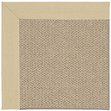 Capel Inspirit Champagne Machine Woven Ivory Area Rug; Rectangle 5' x 8'