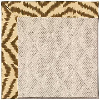 Capel Zoe Light Brown Indoor/Outdoor Area Rug; Rectangle 8' x 10'