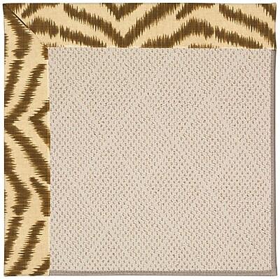 Capel Zoe Light Brown Indoor/Outdoor Area Rug; Rectangle 10' x 14'