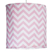 Sweet Potato by Glenna Jean Swizzle Hanging 14 '' Fabric Drum Pendant shade; Pink