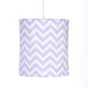 Sweet Potato by Glenna Jean Swizzle Hanging 14 '' Fabric Drum Pendant shade; Purple