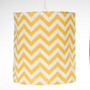 Sweet Potato by Glenna Jean Swizzle Hanging 14 '' Fabric Drum Pendant shade; Yellow