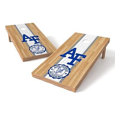 Tailgate Toss NCAA Hardwood Cornhole Game Set; Saint Peter's Peacocks Peahens