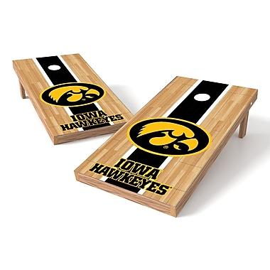 Tailgate Toss NCAA Hardwood Cornhole Game Set; Iowa Hawkeyes