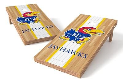 Tailgate Toss NCAA Hardwood Game Cornhole Set; Kansas Jayhawks