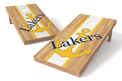Tailgate Toss NCAA Hardwood Game Cornhole Set; Lake Superior State Lakers