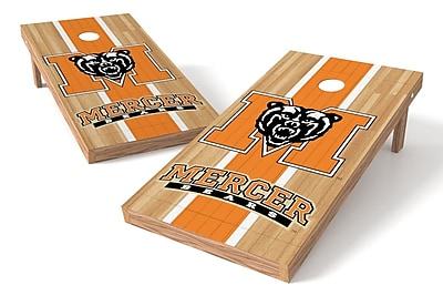 Tailgate Toss NCAA Hardwood Game Cornhole Set; Mercer Bears
