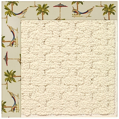 Capel Zoe Beige Indoor/Outdoor Area Rug; Square 6'