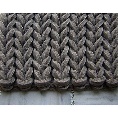 Modern Rugs Braided Gray Area Rug; Rectangle 9' x 12'