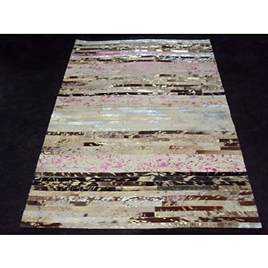Modern Rugs Patchwork Stripe Neapolitan Area Rug; Rectangle 6' x 9'