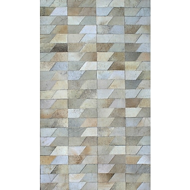 Modern Rugs Patchwork Geo Faded Gray Area Rug; Rectangle 6' x 9'