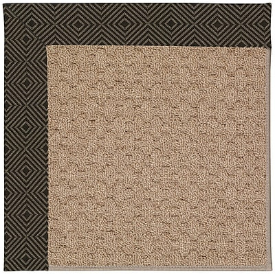 Capel Zoe Grassy Mountain Machine Tufted Magma Indoor/Outdoor Area Rug; Square 4'