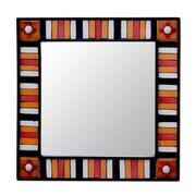 Novica Sunshine Reflection Square Wall Mirror