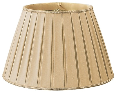 RoyalDesigns Timeless 16'' Silk/Shantung Empire Lamp Shade; Gypsy Gold