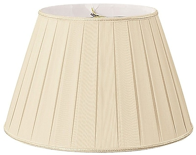 RoyalDesigns Timeless 18'' Silk/Shantung Empire Lamp Shade; Beige/Off-White