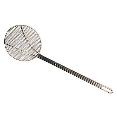 """Stainless Steel Round Skimmer for Cleaning Crumbs or Small Fries 6.5/"""" Coarse"""