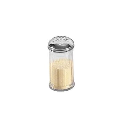American Metalcraft 12 Oz. SAN Fluted Cheese Shaker w/Extra Large Hole Top (SAN319)