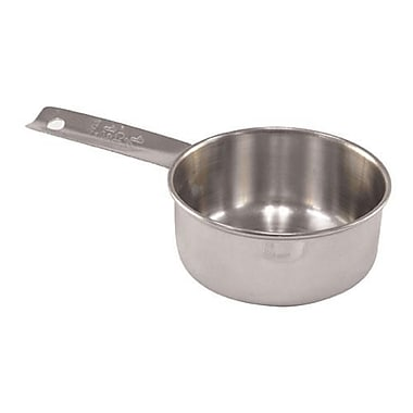 Tablecraft 1/2 Cup Measuring Cup, Stainless Steel (724C)
