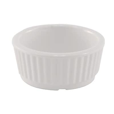 Adcraft 2 Oz White Melamine Fluted Ramekin (RAM-2)