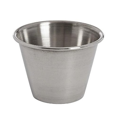 American Metalcraft 2 1/2 Oz Round Stainless Steel Sauce Cup (MB1) 2473681