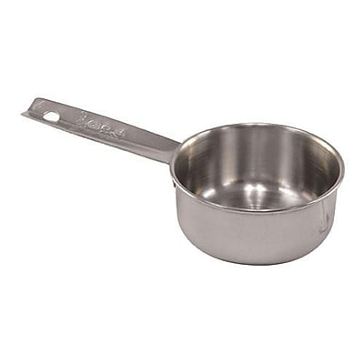 Tablecraft 1/3 Cup Measuring Cup, Stainless Steel (724B) 2473683