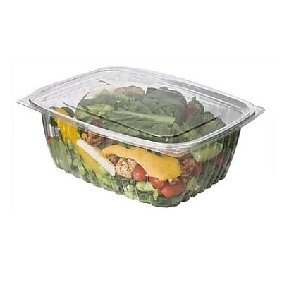 Eco-Products 64 Oz. PLA Rectangular Deli Containers with Lid, 9