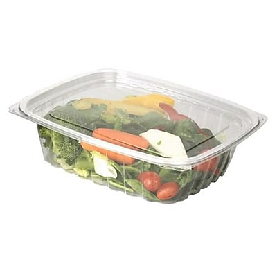 Eco-Products 24 Oz. PLA Rectangular Deli Containers with Lid, 7 1/2