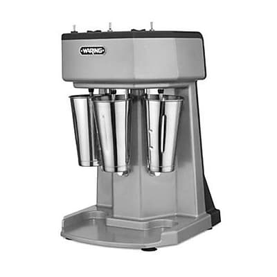 Waring 3-Speed Triple Spindle Drink Mixer, 2.258 cu.ft, Silver, 21
