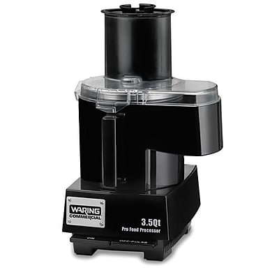 Waring Food Processor w/ 3.5 Qt Bowl & Continuous Feed, 1.26 cu.ft, Black, 16