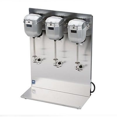Waring Triple Spindle Drink Mixer, 2.113 cu.ft, Silver, 16.5
