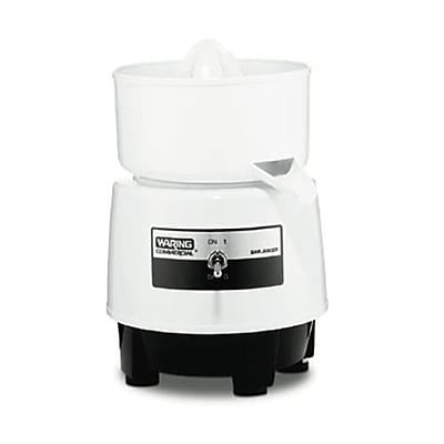 Waring Electric Bar Juicer, 1.14 cu.ft, White, 9.25