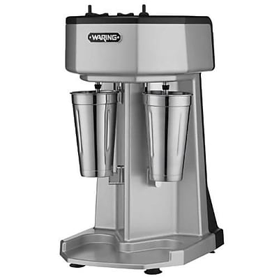 Waring 3-Speed Double Spindle Drink Mixer, 2.2540 cu.ft, Silver, 21.5