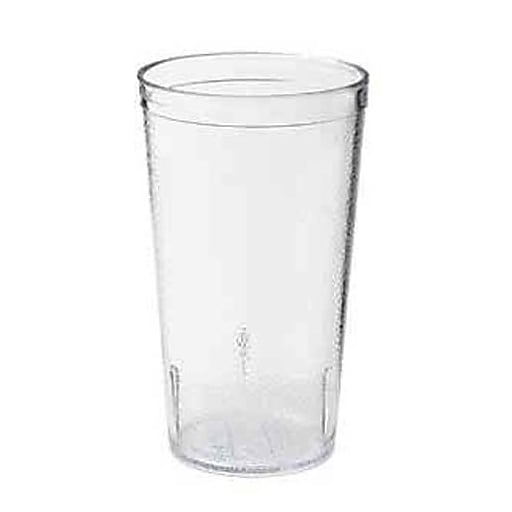 GET Enterprises 24 Oz. Clear Pebbled Tumbler, 72/Pack (6624-1-2-CL)