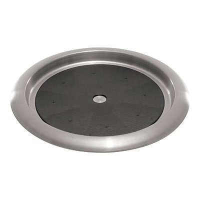 Service Ideas Round Stainless Steel Serving Tray, 14