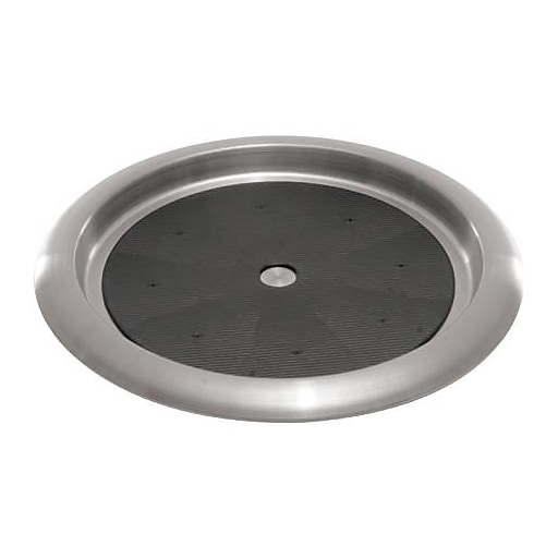 """Service Ideas Round Stainless Steel Serving Tray, 14"""" (TR1412SR)"""