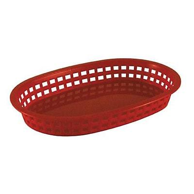 Tablecraft Oval Red Plastic Platter Baskets, 12/CT (1076R)