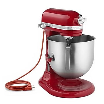 KitchenAid Commercial Empire Red 8 Qt Commercial Stand Mixer, Empire Red, 16 1/2  H x 13.3  W x 14.6  D,Size: large
