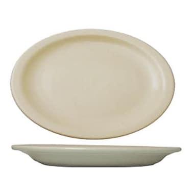 International Tableware 13 1/4 inch x 10 3/8 Platter With Narrow Rim 12/Pack (VA-14)
