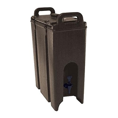 Cambro Camtainer 4 3/4 Gallon Beverage Carrier, Brown (500LCD131)